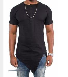 Wholesale Tyga T Shirts - NEW Kanye West Hip Hop T Shirt Irregular Tyga Cotton T-Shirt New Cease Desist Paisley Bandana Graphic Extended Swag T-Shirt