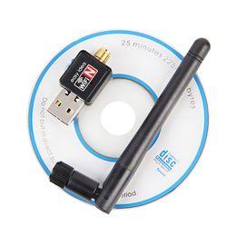 Wholesale Adaptador Wifi - Mini Wireless Wifi Adapter 150Mbps 2dB Antenna USB Wifi Receiver Network Card 802.11b n g High Speed Wifi Adaptador