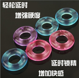 Wholesale Ring For Men Penis - Wholesale- Fine Men's Cock Rings funny Toys for Men Crystal Penis Lock Ring Adult funny Toys