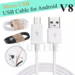 Wholesale Universal Cellphone Charger - V8 Micro USB Cable CellPhone Charger Data Sync Cable For Android USB Adapter For Samsung LG HTC Sony Nokia Fast Charger USB Cable