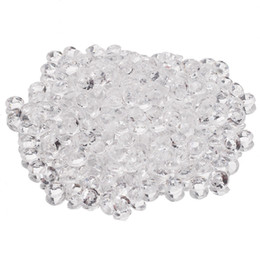 Wholesale Wholesale Fake Diamonds - Wholesale-5000Pcs Clear Faux Fake Sprinkle Blink Diamonds Confetti Craft DIY Wedding Party Tabletop Scatters Decoration 4.5mm