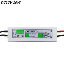 Wholesale Volt Supply - Superior Quality DC12V 10W IP67Waterproof LED Driver Power Supply Aluminum Alloy Transformer AC110-260 to 12 Volt DC Output