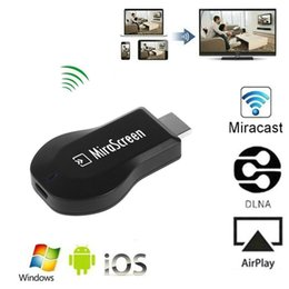 Wholesale Dlna Airplay Miracast - MiraScreen OTA TV Stick Miracast Dongle Wi-Fi Display Receiver DLNA Airplay Miracast Better Than Ezcast EasyCast Airmirroring Chromecast