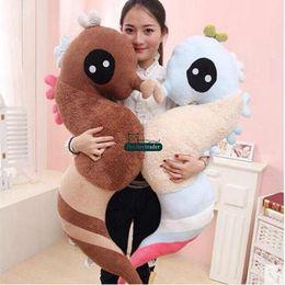 Wholesale Cute Stuffed Horse Toys - Dorimytrader 140cm Big Soft Lovely Cartoon Sea Horse Plush Pillow 55'' Giant Stuffed Cute Animal Hippocampus Toy Baby Present DY61554