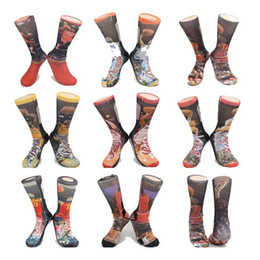 Wholesale Michael Socks - 3 Pairs Lot 3D USA printed brand new odd socks NO.23 socks Michael JD LB James KB Bryant Kevin Durant ROSE Anthony Paul GREFFIN big socks