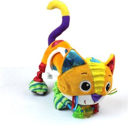 Wholesale Doll Prams - Wholesale- Reborn Baby stuffed Plush cat Toys Dolls Kids educational Toys Crib Pram Car Stroller hanging Toys for Children brinquedos LF103