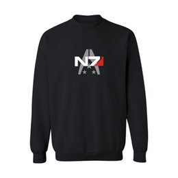 Wholesale Mass Effect Hoodie - Wholesale-Fashion Mass Effect 3 N7 4xl Streetwear Harajuku Sweatshirt Black in Game Style Mens Hoodies and Sweatshirts Hip Hop White 3xl