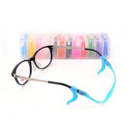 Wholesale Eyeglasses Holder Chain - High Quality Sport Sunglasses eyeglasses Anti Slip silicone temple tip holder ear hook + eyeglasses chain cord 2pcs in a set ZA2558