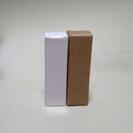 Wholesale Perfume Bottle Packaging Boxes - 100pcs lot-2.7*2.7*14cm Blank White Kraft Paper Box DIY Lipstick Perfume Essential Oil Bottle Storage Boxex valve tubes package