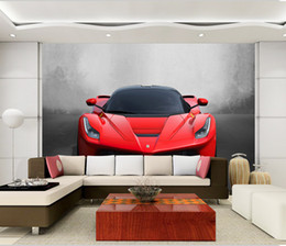 Wholesale Sports Wall Mural Wallpaper - Custom Any Size 3D Sports Car Poster Photo Wallpaper Living Room Study Bedroom TV Background Wall Mural Wallpaper De Parede 3D