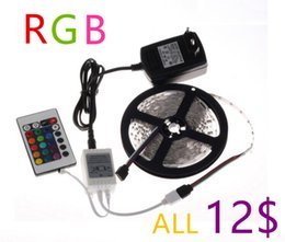 Wholesale Rgb Led Lights 18w - 24W SMD 3528 led strip tape neon light flexible ledstrip dimmable ambilight RGBW RGB muti color waterproof 5m roll 300 leds 12V