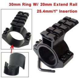 "Wholesale Barrel Adapter - Scope Barrel Mount 1""  25.4mm 30mm Ring Adapter 20mm Weaver Picatinny Rail Rifle Pistol Airsoft Gun Base Install Scope Pistol"