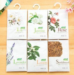 Wholesale Scented Sachets Wholesale - natural fragrance sachet aromatic hanging wardrobe closet car odor mildew clothes scented sachet bags air freshener