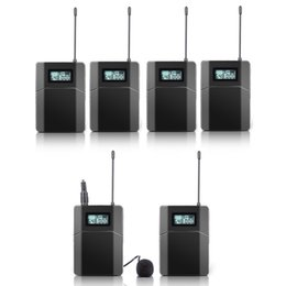 Wholesale Transmitter Receiver Tour Guide - Free shipping 100m Wireless Tour Guide System Used For Tour Guiding Church Teaching interpretation 5 Receivers 1 Transmitter With Mic
