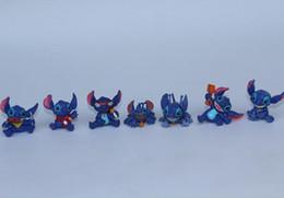 Wholesale Stitch Dolls For Sales - 50PCS lot cartoon action figures, Lilo & Stitch 3cm, capsule dolls,hot sale toys for students