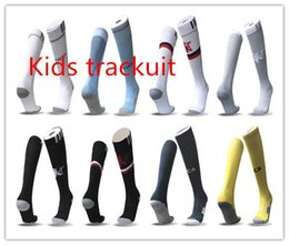 Wholesale Thin Cotton Socks Children - kids soccer sock 2017 2018 Polychromatic plate knitting thin cotton socks socks knee stockings boys in primary children football socks