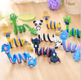Wholesale Electric Winder - Cute Cartoon Earphone Wire Cord Cable Winder Organizer Holder for iPhone Samsung Tablet MP3 MP4 Electric winding thread tool 50pcs