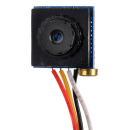 "Canada 5 mégapixels 1280 * 960 Mini-caméra ABS ABS CCTV CMOS 1/4 ""PAL / Audio grand-angle - Noir Offre"