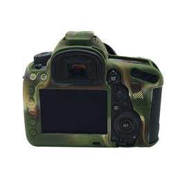 Wholesale Mark Iv - Camouflage Soft silicone case for Canon 5D Mark IV 4 Camera Bag Case Cover for Canon 5D4 5DIV camera Protect Case