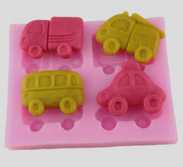 Wholesale Car Moulds - 10PCS LOT, Car Fondant Cake Chocolate Cookies Sugarcraft Mold Cutter Silicone Mould Bake Tools DIY Hot Sale!