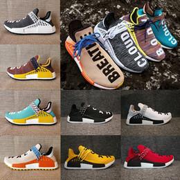 Wholesale Faster Women - Fast shipping Original NMD HUMAN RACE Trail Boost Core black noble ink Yellow black blue grey men women Sport sneakers Shoes eur 36-47
