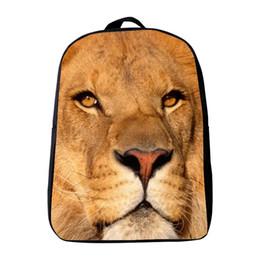 Wholesale Wholesale Orange Backpacks - Wholesale- 12 Inches Oxford Printing Animal Lion Kindergarten Backpack Small Kids Baby School Bags,Infantile Mini Bookbag, Boys Schoolbag