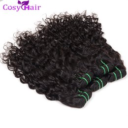 Wholesale Indian Sewing Machines - Hot Sale Brazilian Wet Wavy Hair Weave Sew in Hair Extensions Big Curly Human Hair Weaving 5pcs Cheap Wefts Natural Water Wave