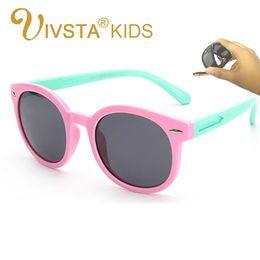 Wholesale Sunglasses Golden Arrows - IVSTA kids cat sunglasses Cat Eye girls children sunglasses Polarized Rubber pupil Flexible arrow girls cat sunglasses 832