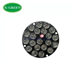 Wholesale Infrared Light For Cctv Camera - Wholesale- 10X 21LEDs 12V F8 850nm IR infrared LED light board for CCTV camera free shipping