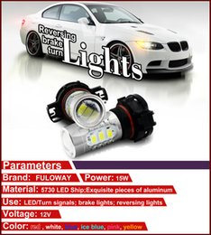 Wholesale Lamp Led H16 - 100%waterproof Super bright H7 5730 15smd 7.5W 12V DC led fog lamp universal auto fog lamp with lens