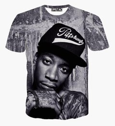 Wholesale Women Punk Rock - New fashion men women hip hop rock singer punk 3d t shirt Wiz Khalifa 2pac t shirt funny casual tee shirts summer top clothes