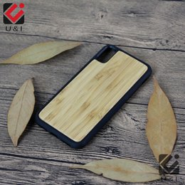 Wholesale I Cases - Bamboo Case For iPhone X Real Wood Full TPU Protector Mobile Phone Cover Custom U&I blank Wooden for Apple X Coque Factory Fundas