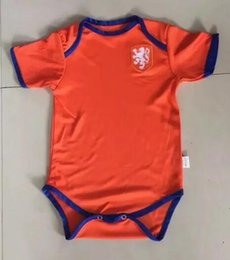 Wholesale Soccer Jerseys Wholesale Cotton - 2017 2018 New Chivas Baby soccer Jersey Cotton Short Sleeved Jumpsuit Netherlands Baby Triangle Climb Clothes Loveclily 17 baby fans shirt