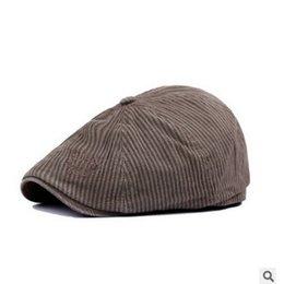 Wholesale Designer Visors - Wholesale-Brand Designer Beret Hat Women Men Sun Cap Travel Golf Painter Newsboy Bonnet Planas Boinas Chapeau Striped Visors HT51037+25