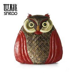 Wholesale patchwork owl backpack - factory sales brand handbag new European style handmade Vintage owl animal shape women backpack bag personality fashion ladies bag