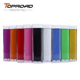 Wholesale Lipstick External Portable Battery Charger - Wholesale-New Power Bank 1500mAh Mini Lipstick External Battery Portable Colorful Mobile Charger Universal Powerbank For All Cell Phones