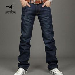 Wholesale Boy Cargo Pants - Wholesale- jeans men High quality straight jeans famous brand men pants male cotton fashion jean pantalones vaqueros hombr boy