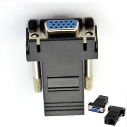 Wholesale Vga Extender Male Lan - VGA Extender Female To Lan Cat5 Cat5e RJ45 Male Ethernet Female Adapter