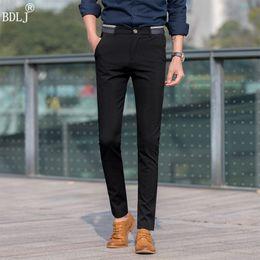 Wholesale Business Suits Wholesale - Wholesale- Hot Sale! High Quality 2017 Fashion Casual men Pants Slim Fit Suit Pants Casual Pants business Trousers Plus Size 28-36