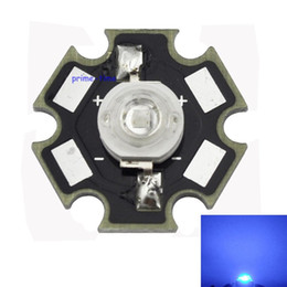 Wholesale 3w Led Emitter Star - Wholesale- 10PCS 3W Royal Blue 450-455NM High Power LED Emitter 700mA with 20mm Star Base for Plant Grow Aquarium