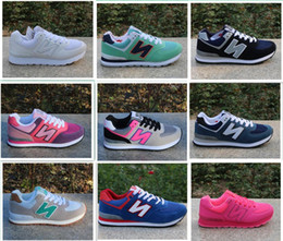 Wholesale Pink Ocean - Drop Shipping N Leather Size 36-44 men and women lace-up Casual Shoes Couples sneakers N shoes More colors