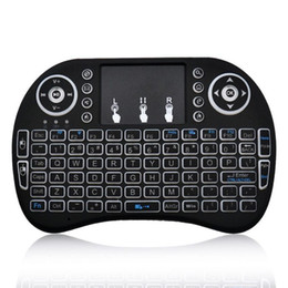 Wholesale Tv Oem Android - Rii I8 Fly Air Mouse 2.4G Backlit Wireless Touchpad Keyboard Air Mouse Multifunction For PC Pad Android TV Box MXQ Pro X96