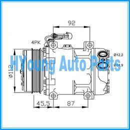 Wholesale Iveco Daily - Compressor for Fiat Ducato   Citroen Jumper   Peugeot Boxer   Iveco daily 504384357 504005418 1822F 6453SV SANDEN 7V16 SD7V16 112mm 4pk