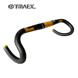 Wholesale Green Carbon Handlebars - Road Bike Bent Bar Carbon Handlebar TMAEX Pro Cycling Road Bicycle Handle Bars with Yellow Red Blue Green White Color31.8mm