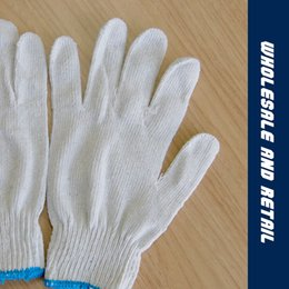 Wholesale Wholesale White Cotton Gloves - Thickening of the wear - resistant industrial cotton yarn knitted gloves special white - level labor insurance gloves
