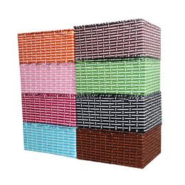 Wholesale Decorative Wood Storage Boxes - Handmade Wicker Storage Basket Books Crafts Cosmetic Box Household Desktop Sundries Furnishing Decorative Reto Organizer no12