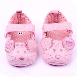 Wholesale Autum Girl - Wholesale- new born first walker autum baby girls shoes cotton cute mouse baby shoes moccasins infant toddler newborn prewalker infantil