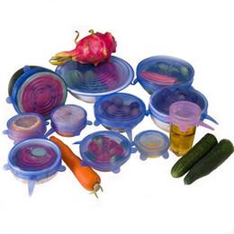 pentole in gomma Sconti 6pcs silicone universale coperchi pentola di aspirazione coperchio in silicone cucina padella di cottura coperchi coperchi coperchio casa ciotola zq873188