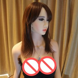 Wholesale Heated Pussies - 2017 New 158cm full silicone sex doll for men voice heating body oral japanese realistic dolls vagina real pussy