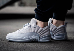 Wholesale Cool Shoes For Women - 2017 New Arrival Air retro 12 cool grey Sneakers Professional Running shoes for men women Sneakers shoes size 5-13